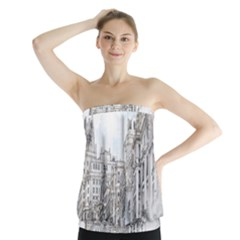 Architecture Building Design Strapless Top
