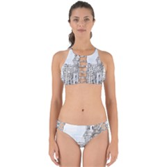 Architecture Building Design Perfectly Cut Out Bikini Set