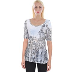 Architecture Building Design Wide Neckline Tee