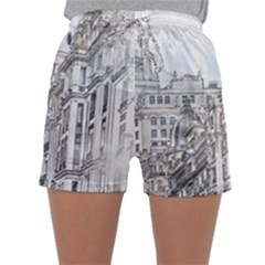Architecture Building Design Sleepwear Shorts
