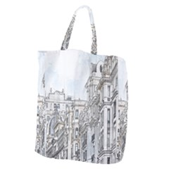 Architecture Building Design Giant Grocery Zipper Tote