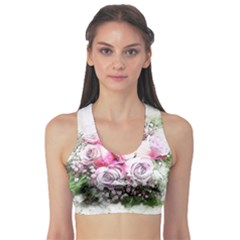 Flowers Bouquet Art Nature Sports Bra