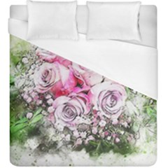 Flowers Bouquet Art Nature Duvet Cover (king Size)
