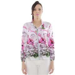 Flowers Bouquet Art Nature Wind Breaker (women)