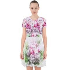 Flowers Bouquet Art Nature Adorable In Chiffon Dress