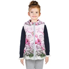 Flowers Bouquet Art Nature Kid s Puffer Vest by Nexatart