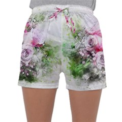 Flowers Bouquet Art Nature Sleepwear Shorts