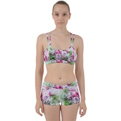 Flowers Bouquet Art Nature Women s Sports Set
