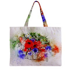 Flowers Bouquet Art Nature Zipper Mini Tote Bag by Nexatart
