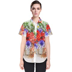 Flowers Bouquet Art Nature Women s Short Sleeve Shirt