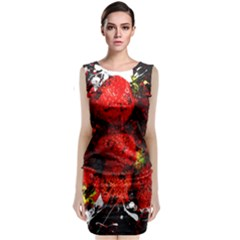 Strawberry Fruit Food Art Abstract Classic Sleeveless Midi Dress