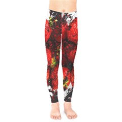 Strawberry Fruit Food Art Abstract Kids  Legging by Nexatart