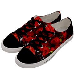 Strawberry Fruit Food Art Abstract Men s Low Top Canvas Sneakers by Nexatart