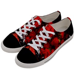 Strawberry Fruit Food Art Abstract Women s Low Top Canvas Sneakers by Nexatart