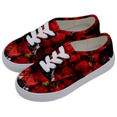 Strawberry Fruit Food Art Abstract Kids  Classic Low Top Sneakers by Nexatart