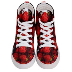 Strawberry Fruit Food Art Abstract Women s Hi-top Skate Sneakers