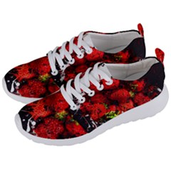 Strawberry Fruit Food Art Abstract Men s Lightweight Sports Shoes by Nexatart