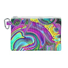 Background Art Abstract Watercolor Canvas Cosmetic Bag (large) by Nexatart