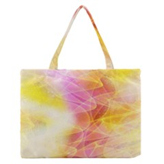 Background Art Abstract Watercolor Zipper Medium Tote Bag