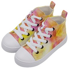 Background Art Abstract Watercolor Kid s Mid Top Canvas Sneakers by Nexatart