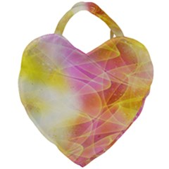 Background Art Abstract Watercolor Giant Heart Shaped Tote