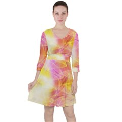Background Art Abstract Watercolor Ruffle Dress