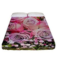 Flowers Bouquet Wedding Art Nature Fitted Sheet (california King Size)