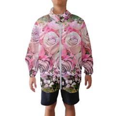 Flowers Bouquet Wedding Art Nature Wind Breaker (kids)