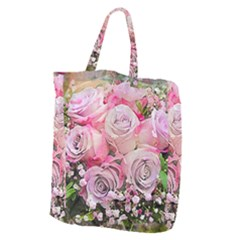 Flowers Bouquet Wedding Art Nature Giant Grocery Zipper Tote