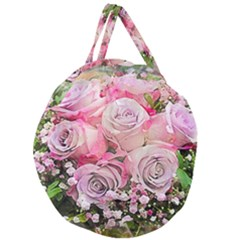 Flowers Bouquet Wedding Art Nature Giant Round Zipper Tote