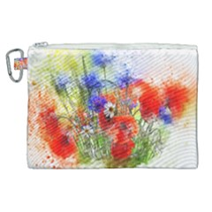 Flowers Bouquet Art Nature Canvas Cosmetic Bag (xl) by Nexatart