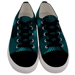 Background Sphere Ball Metal Blue Men s Low Top Canvas Sneakers