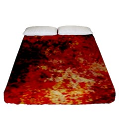 Background Art Abstract Watercolor Fitted Sheet (queen Size)
