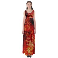 Background Art Abstract Watercolor Empire Waist Maxi Dress