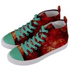 Background Art Abstract Watercolor Women s Mid Top Canvas Sneakers by Nexatart