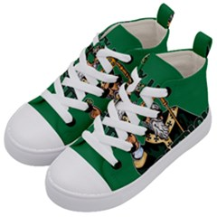 St  Patricks Day  Kid s Mid Top Canvas Sneakers by Valentinaart