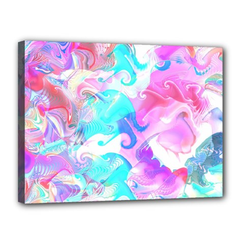 Background Art Abstract Watercolor Pattern Canvas 16  X 12  by Nexatart