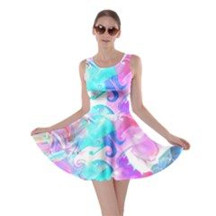 Background Art Abstract Watercolor Pattern Skater Dress