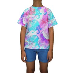 Background Art Abstract Watercolor Pattern Kids  Short Sleeve Swimwear by Nexatart
