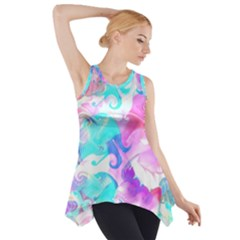 Background Art Abstract Watercolor Pattern Side Drop Tank Tunic