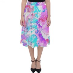 Background Art Abstract Watercolor Pattern Folding Skater Skirt by Nexatart
