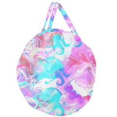 Background Art Abstract Watercolor Pattern Giant Round Zipper Tote