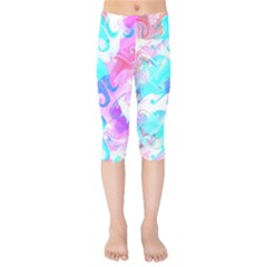 Background Art Abstract Watercolor Pattern Kids  Capri Leggings  by Nexatart