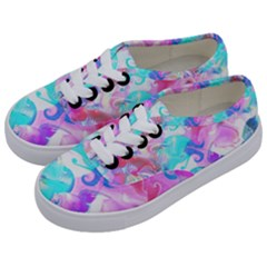 Background Art Abstract Watercolor Pattern Kids  Classic Low Top Sneakers by Nexatart