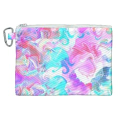 Background Art Abstract Watercolor Pattern Canvas Cosmetic Bag (xl) by Nexatart