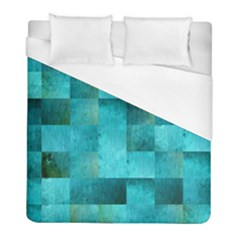 Background Squares Blue Green Duvet Cover (full/ Double Size)