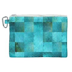 Background Squares Blue Green Canvas Cosmetic Bag (xl) by Nexatart