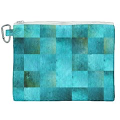 Background Squares Blue Green Canvas Cosmetic Bag (xxl)