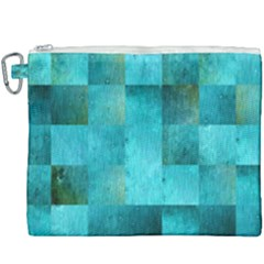 Background Squares Blue Green Canvas Cosmetic Bag (xxxl) by Nexatart