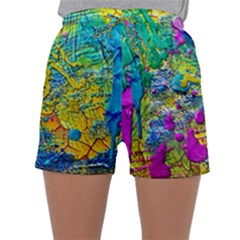 Background Art Abstract Watercolor Sleepwear Shorts